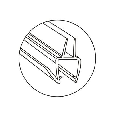 Уплотнитель пол-стекло 90°