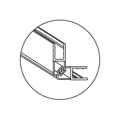Магнитный уплотнитель стекло-стекло 90°
