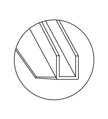 Уплотнитель стена-стекло 90°