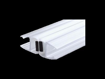 Магнитный уплотнитель стекло-стекло 180°