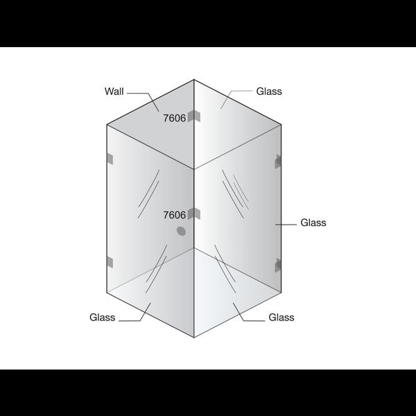 Крепление стена-стекло 90°