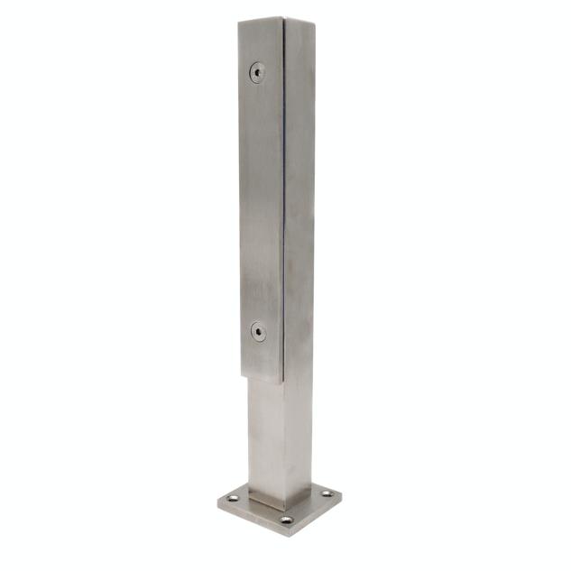 Стойка для стеклянных ограждений 400 мм с прижимной пластиной