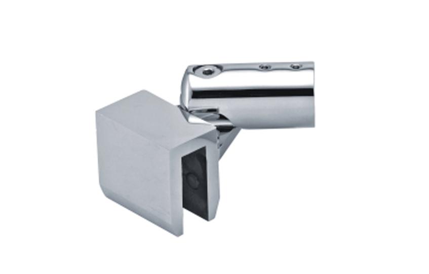 Крепление трубы Ø19 мм к стеклу регулируемое